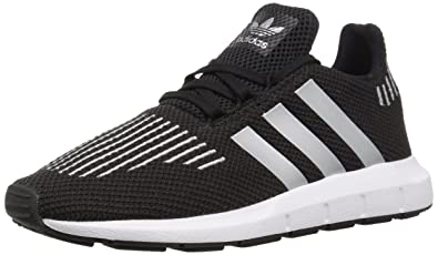 adidas Originals Boys' Swift Run C, Core Black/Metallic Silver/White,